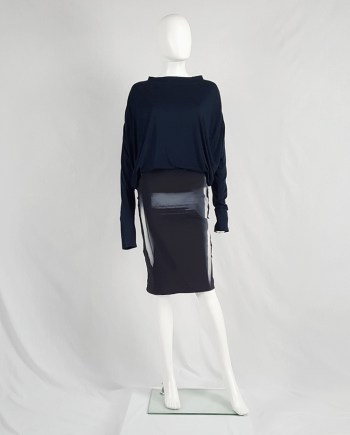 Maison Martin Margiela black skirt with painted trompe-l'oeil — spring 2008