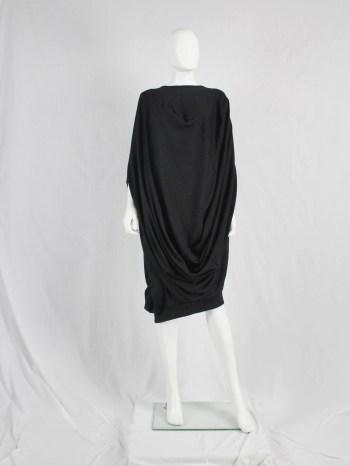 Junya Watanabe black draped cocoon dress — fall 2008