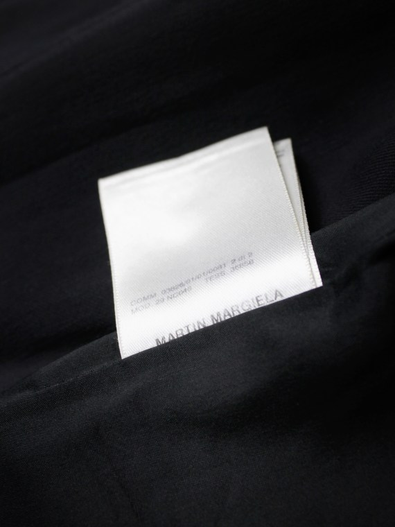 Maison Martin Margiela dark blue top with sequin trompe-l'oeil — spring 2008