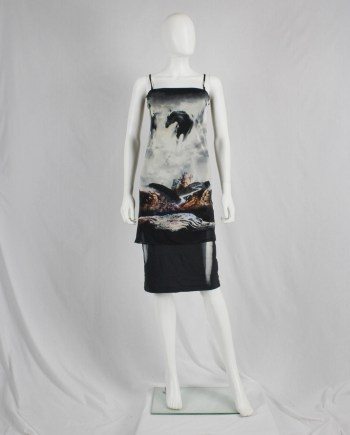 Maison Martin Margiela strapless dress printed with wild horses — spring 2008