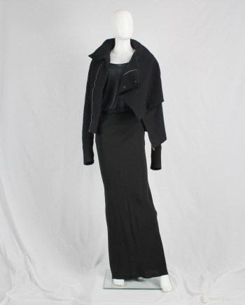 Rick Owens TUNGSTEN black maxi mermaid skirt — spring 2006
