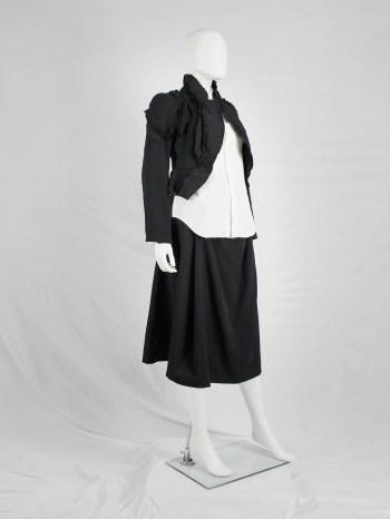 Comme des Garçons black cutaway blazer with triple layered panels — spring 2010