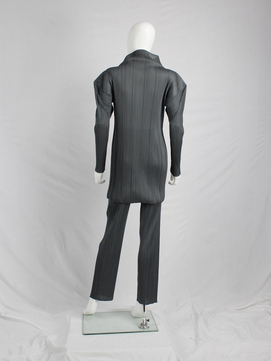 Issey Miyake Pleats Please grey trousers with fine pleats