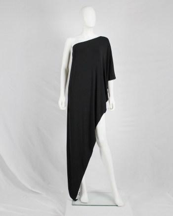 Maison Martin Margiela black asymmetric maxi dress — fall 2008