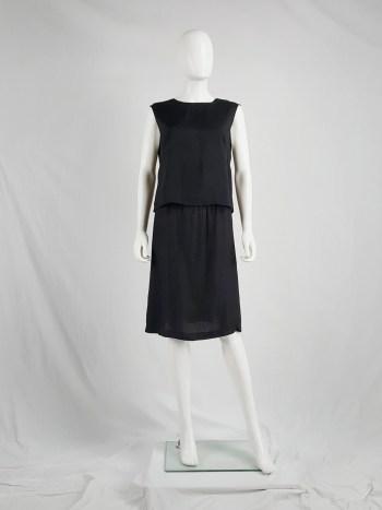 Maison Martin Margiela black lining top 'tissu de Paris' — spring 1997