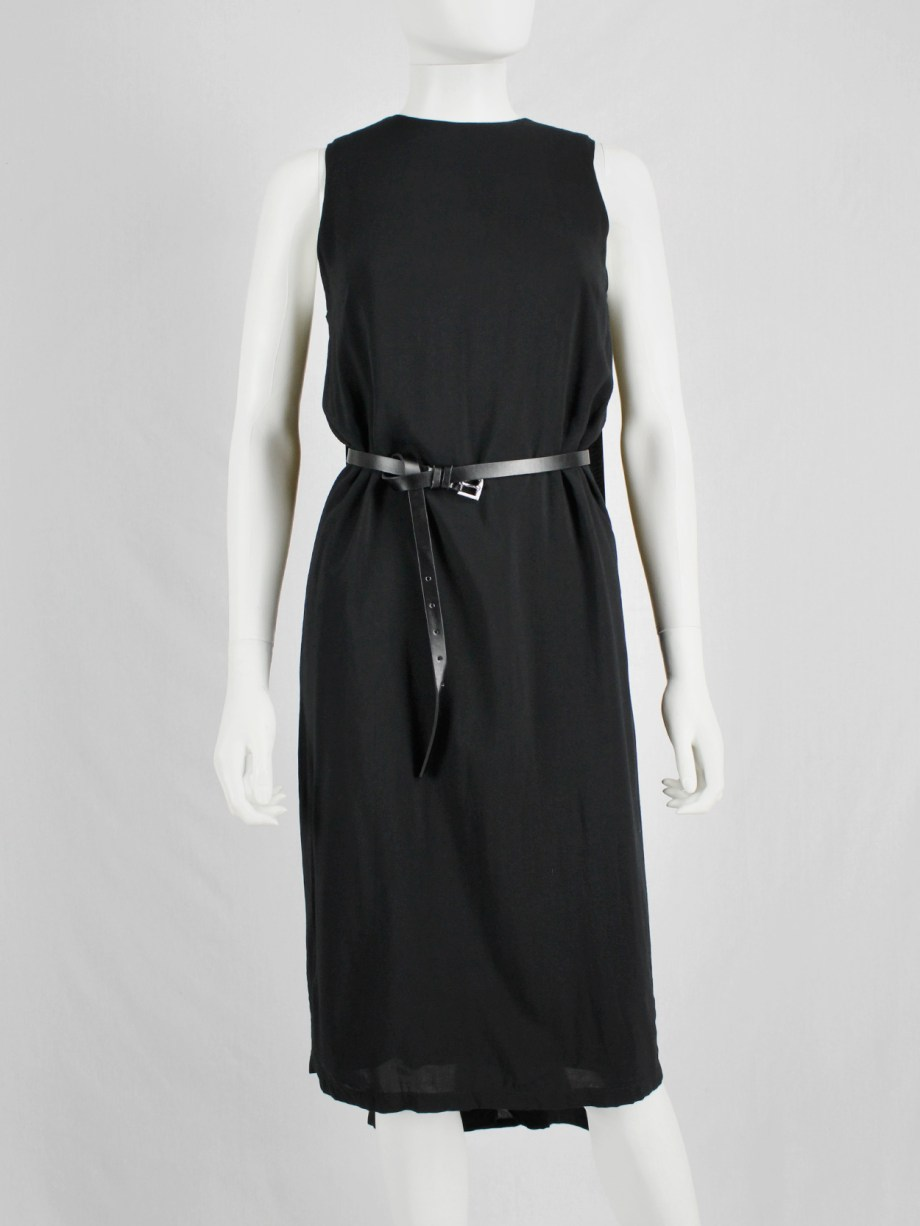 Ann Demeulemeester black dress with cape — spring 2013