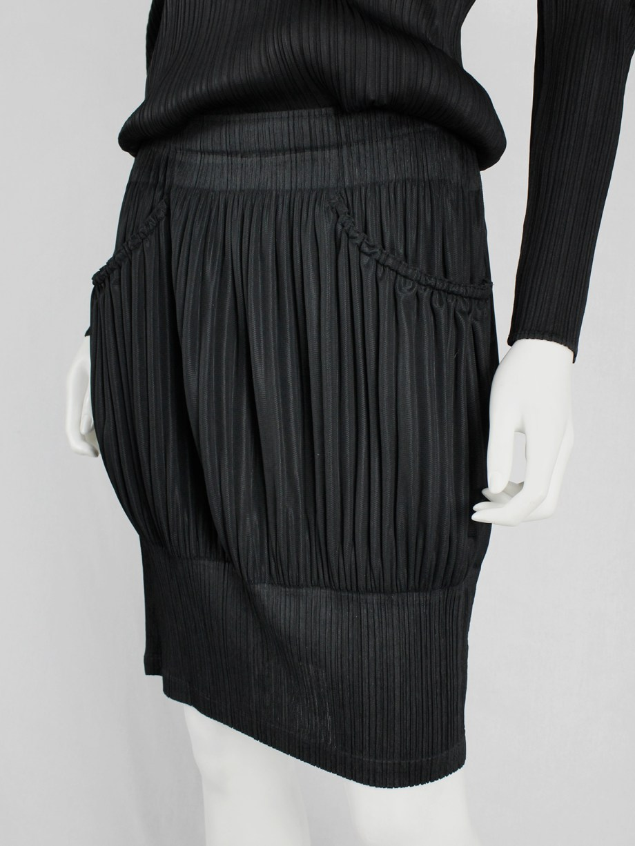 Issey Miyake Pleats Please black bubble skirt with different pleats