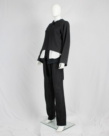 Maison Martin Margiela black jacket reproduced from a doll's wardrobe — spring 1999