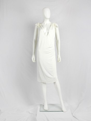 Maison Martin Margiela white floating dress with invisible straps — spring 2005