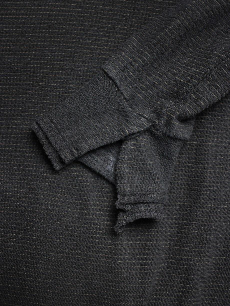 Y's for men black jumper with deconstructed neckline — 1990's