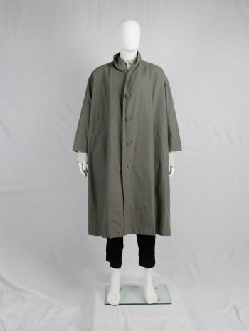 Issey Miyake Windcoat khaki oversized parka — 1980's