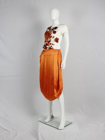 Maison Martin Margiela orange seat cover skirt — fall 2006