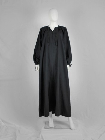 Maison Martin Margiela black maxi-length priest dress — spring 1993