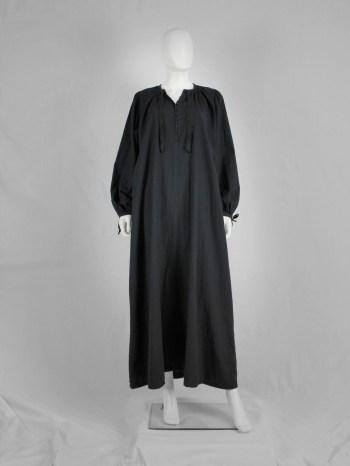 Maison Martin Margiela black maxi-length priest dress — spring 1993