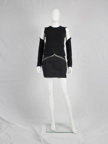Maison Martin Margiela black skirt with diagonal zippers — fall 2008