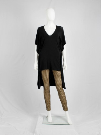 Maison Martin Margiela black square tunic with longer back — spring 2008