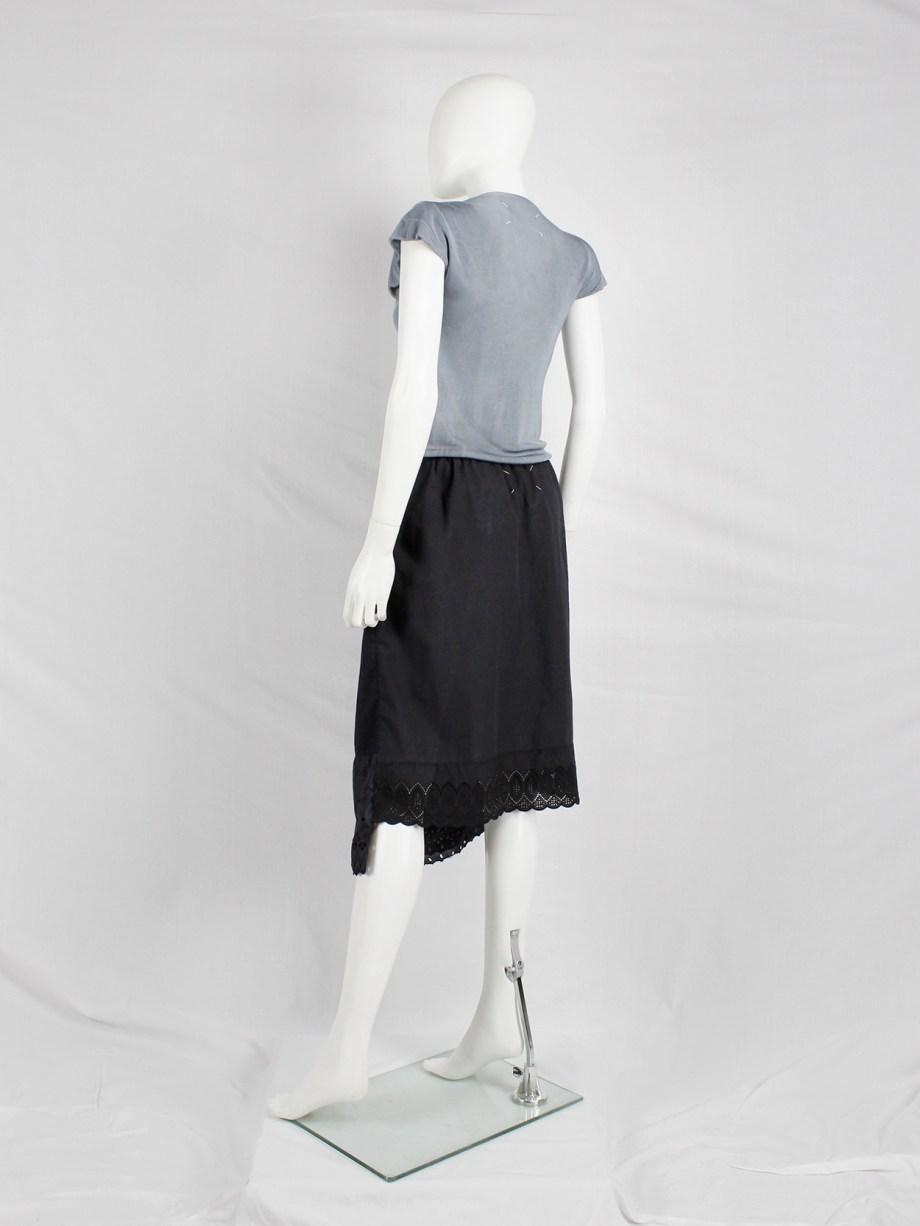 Maison Martin Margiela artisanal blue skirt made of skirt linings — spring 2004