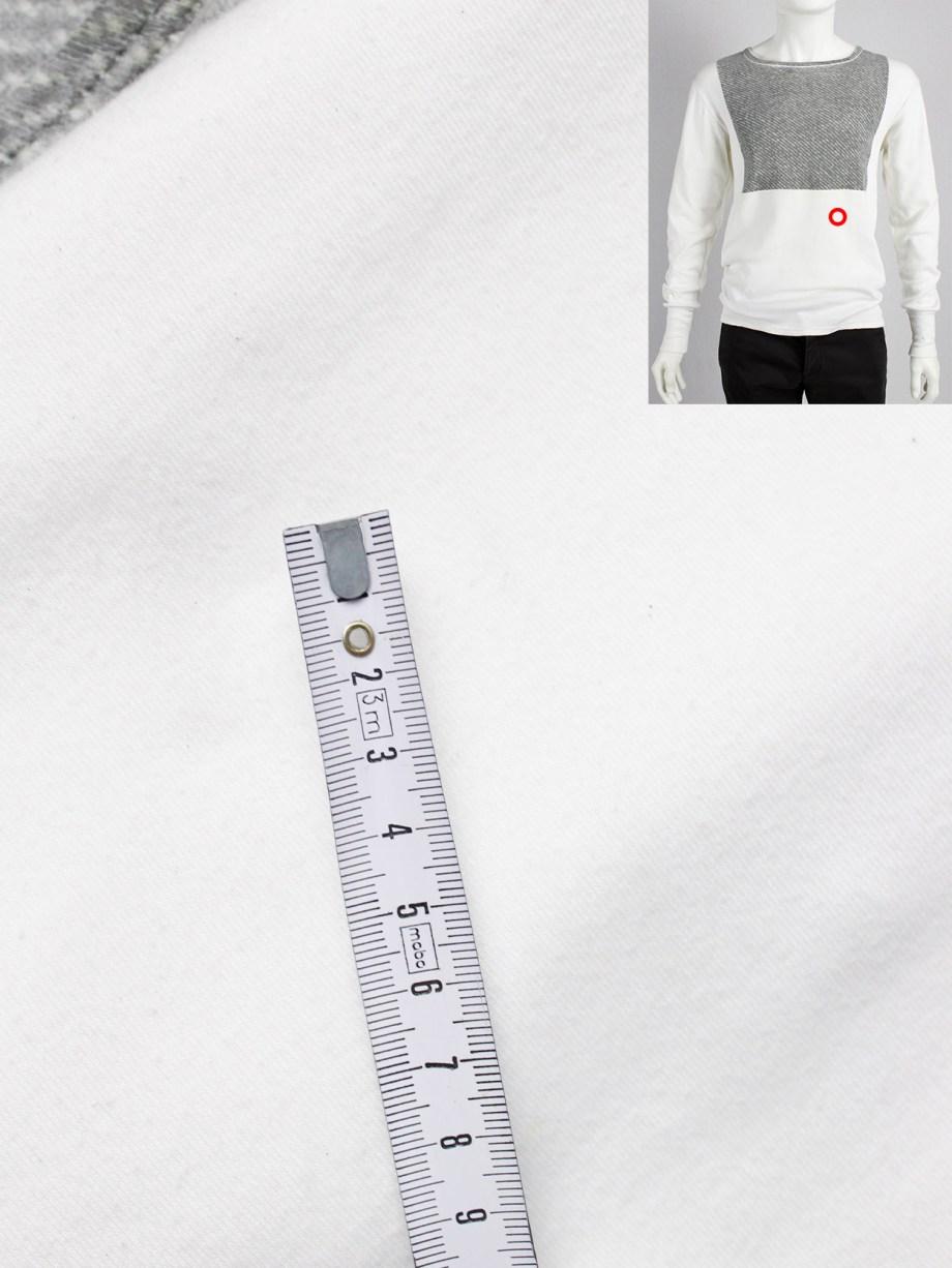 Maison Martin Margiela artisanal jumper with printed grey texture