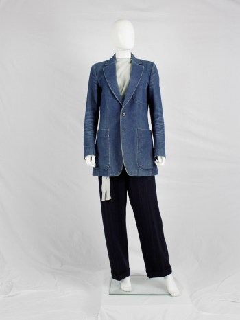Maison Martin Margiela denim reproduction of a 1970's man's jacket — spring 1999