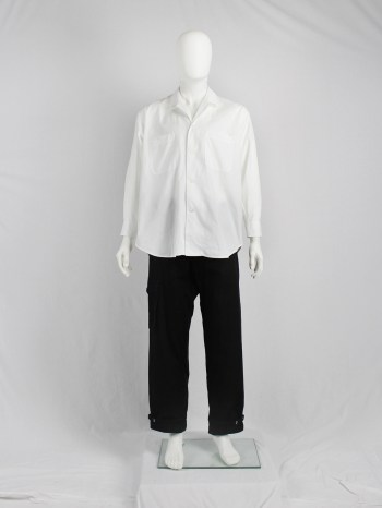 Y's Yohji Yamamoto men's white oversized shirt with lapel collar — early 80's