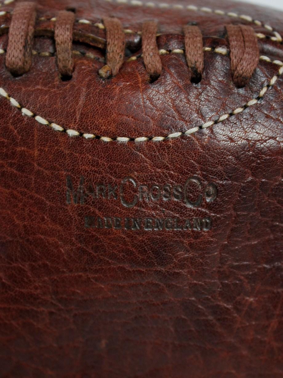 Maison Martin Margiela artisanal shoulderbag made of a vintage rugby ball — 2003