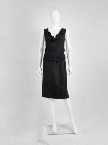 Maison Martin Margiela black top with stretched out neckline — spring 2007