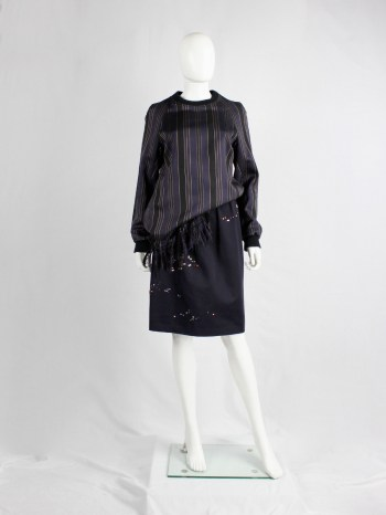 Dries Van Noten navy skirt with crystal night-scapes by James Reeves — spring 2012