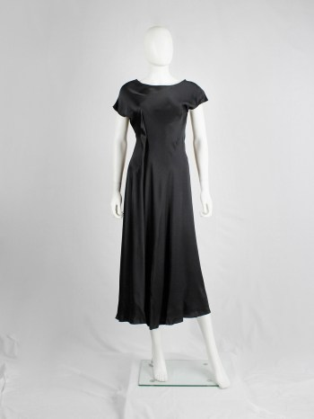 Yohji Yamamoto Noir black asymmetric maxi dress with large outside darts