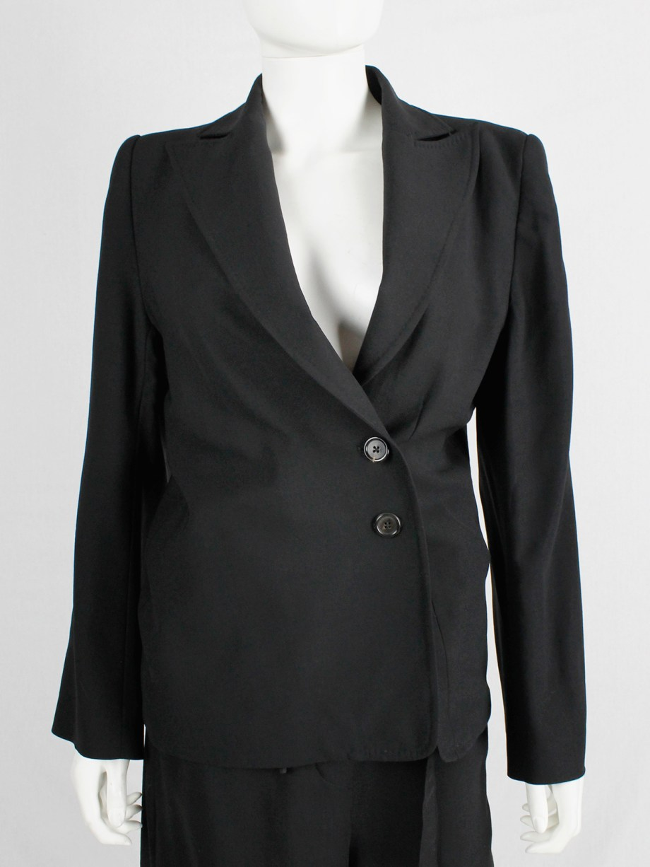 Ann Demeulemeester Blanche re-edition of a fall 1996 asymmetric black blazer (12)