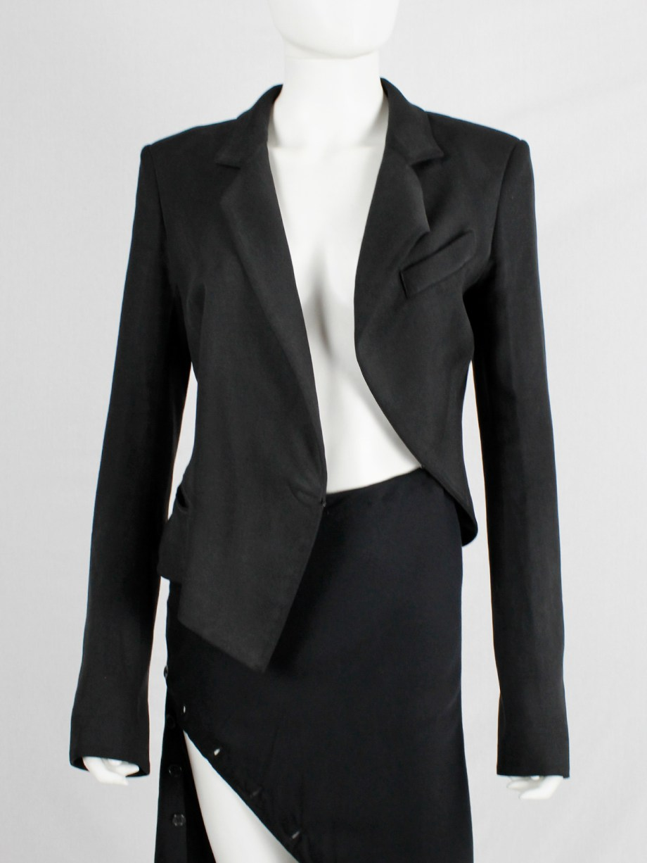 Haider Ackermann black asymmetric blazer with twisted seams spring 2009 (16)