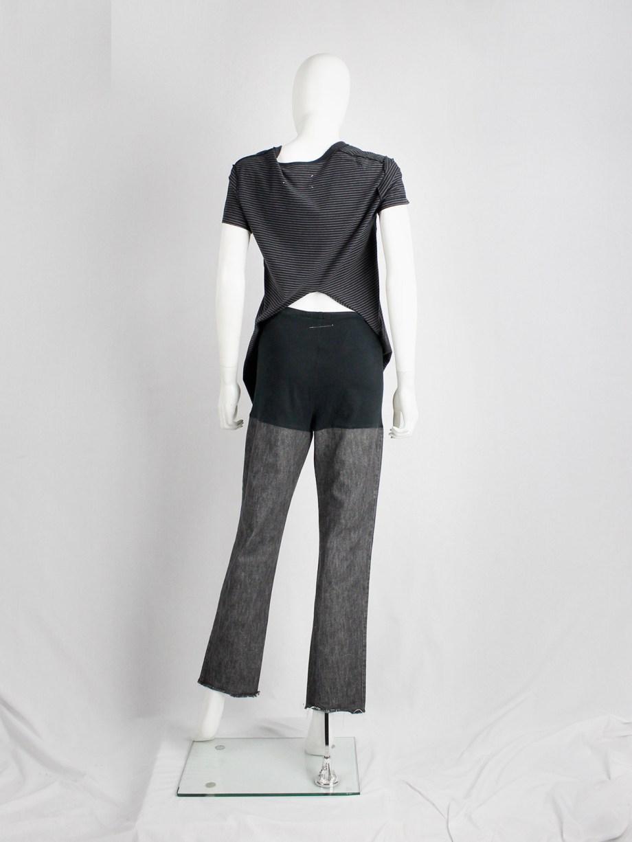 Maison Martin Margiela 6 leggings with denim legs and black upper part — spring 2000