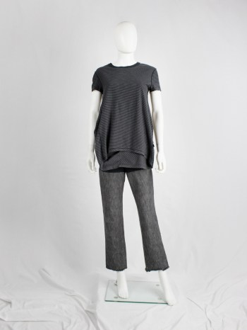 Maison Martin Margiela 6 leggings with denim legs and black upper part — spring 2000