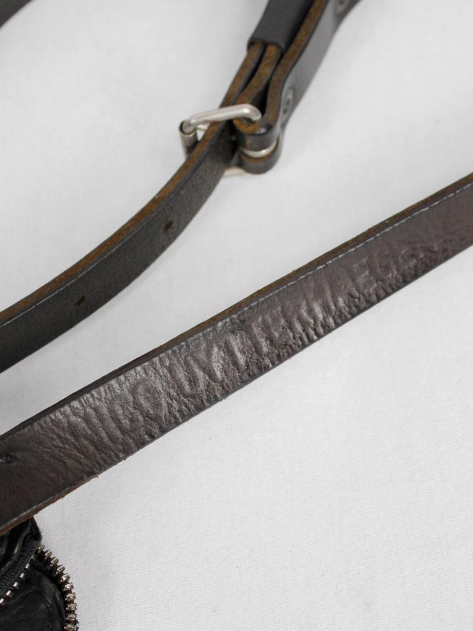 Nico Uytterhaegen black leather cross-body saddle bag