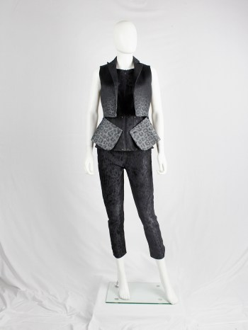 A.F. Vandevorst black waistcoat with leopard ombre and zipped panels — fall 2017 couture