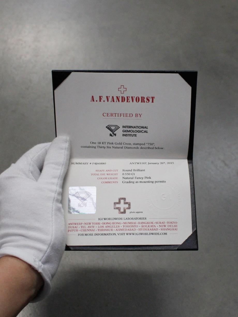 certificate pink