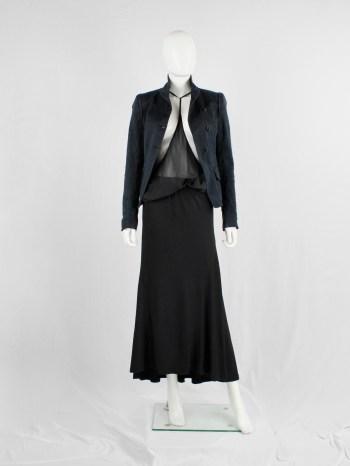 Ann Demeulemeester black maxi skirt with mermaid flare — circa 2010