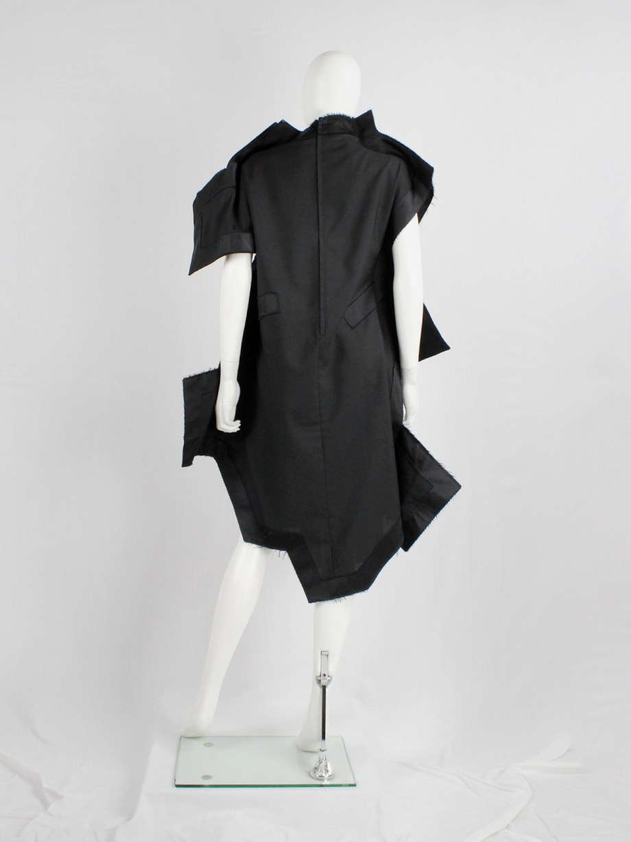 Comme des Garçons black geometric two-dimensional 'paperdoll' dress — fall 2012