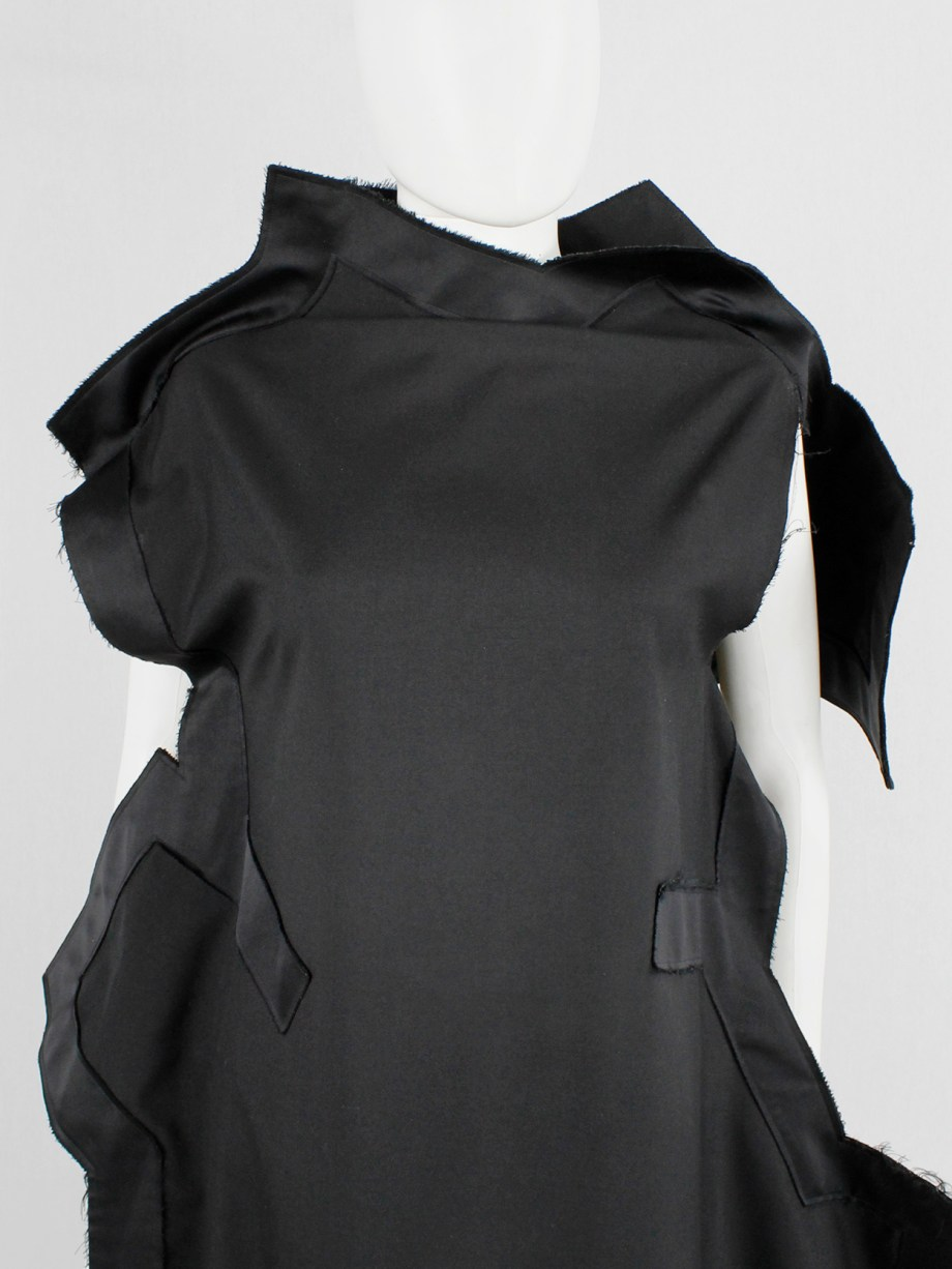 Comme des Garçons black geometric two-dimensional paperdoll dress fall 2012 (8)