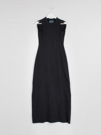 Maison Martin Margiela black flat maxi dress — spring 1998