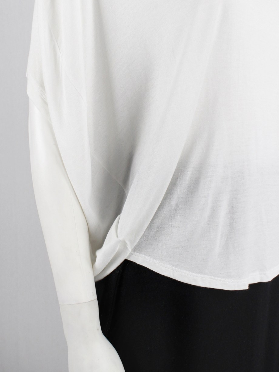Maison Martin Margiela white two-dimensional circular top — spring 2009