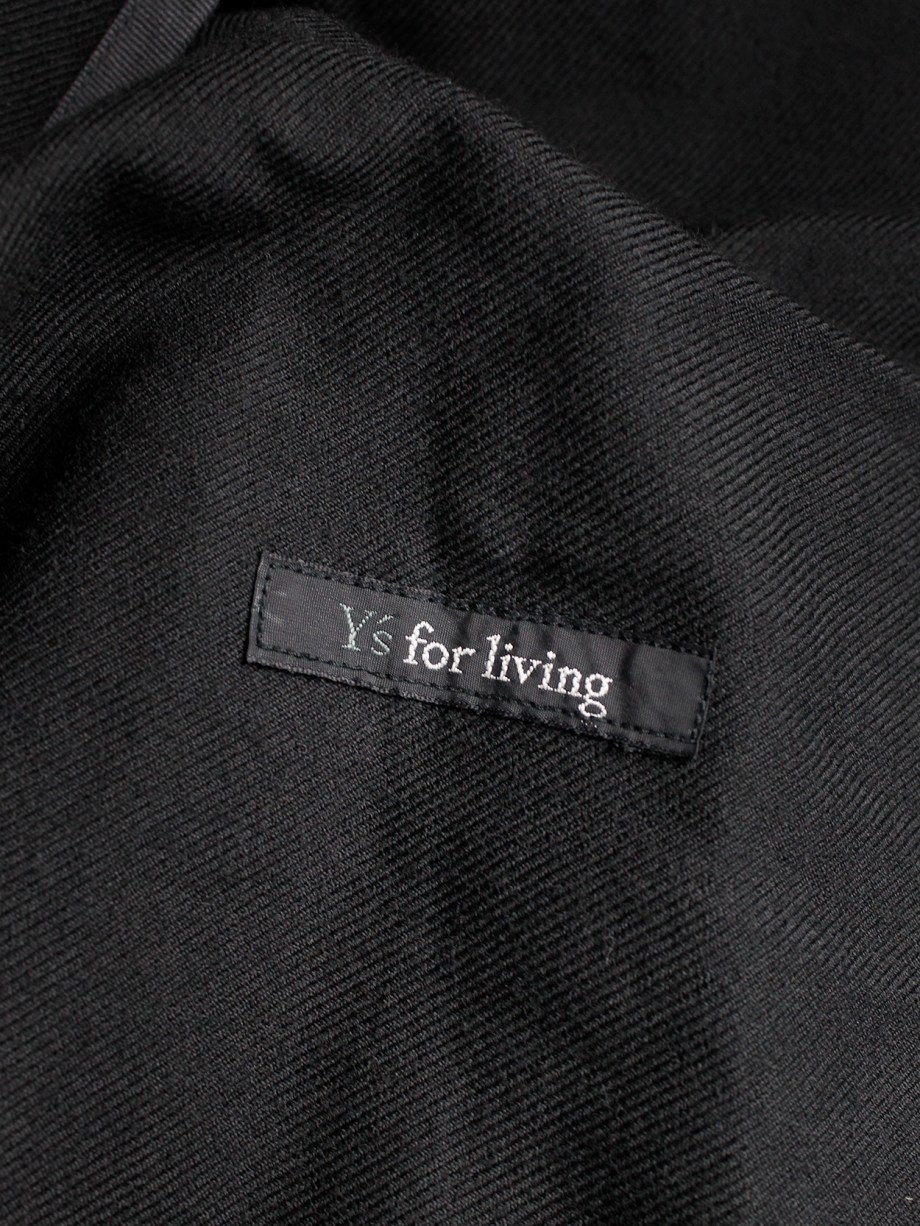 Y's for living dark blue shawl cardigan or jacket with oversized safety pin