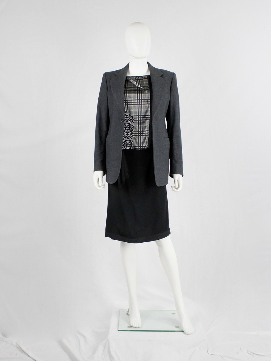 Maison Martin Margiela grey blazer reproduction of a 1974 young man's jacket — fall 1994