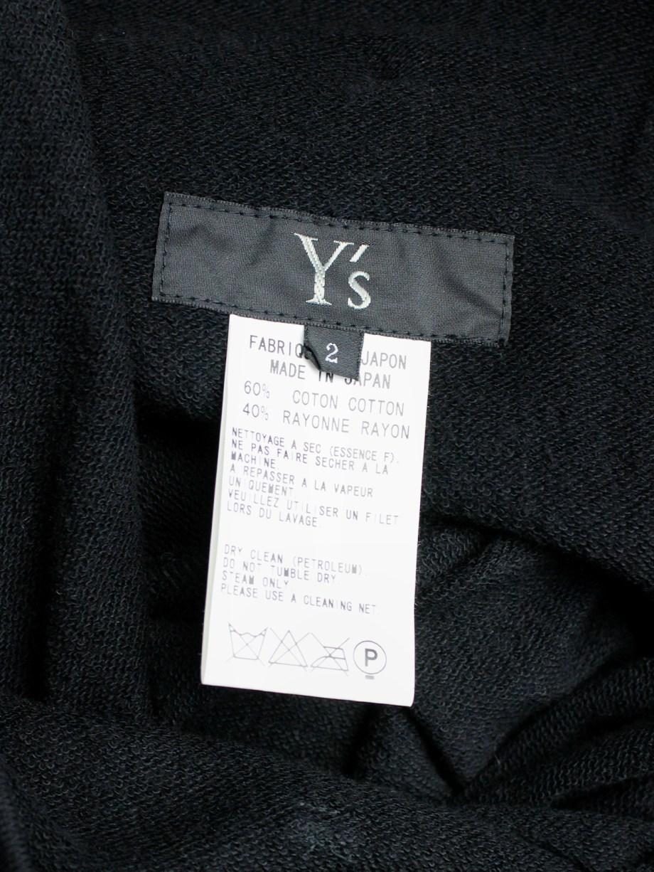 Y's Yohji Yamamoto black maxi skirt with paperbag waist and gathered back pleat