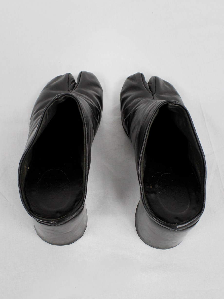 Maison Martin Margiela black tabi slippers with wedge heel (39) — spring 2002
