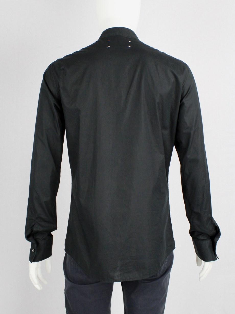 Maison Martin Margiela black victorian shirt with beaded bib — spring 2008