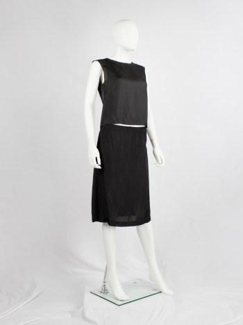 Maison Martin Margiela black top in 'creation de paris' lining fabric — spring 1995