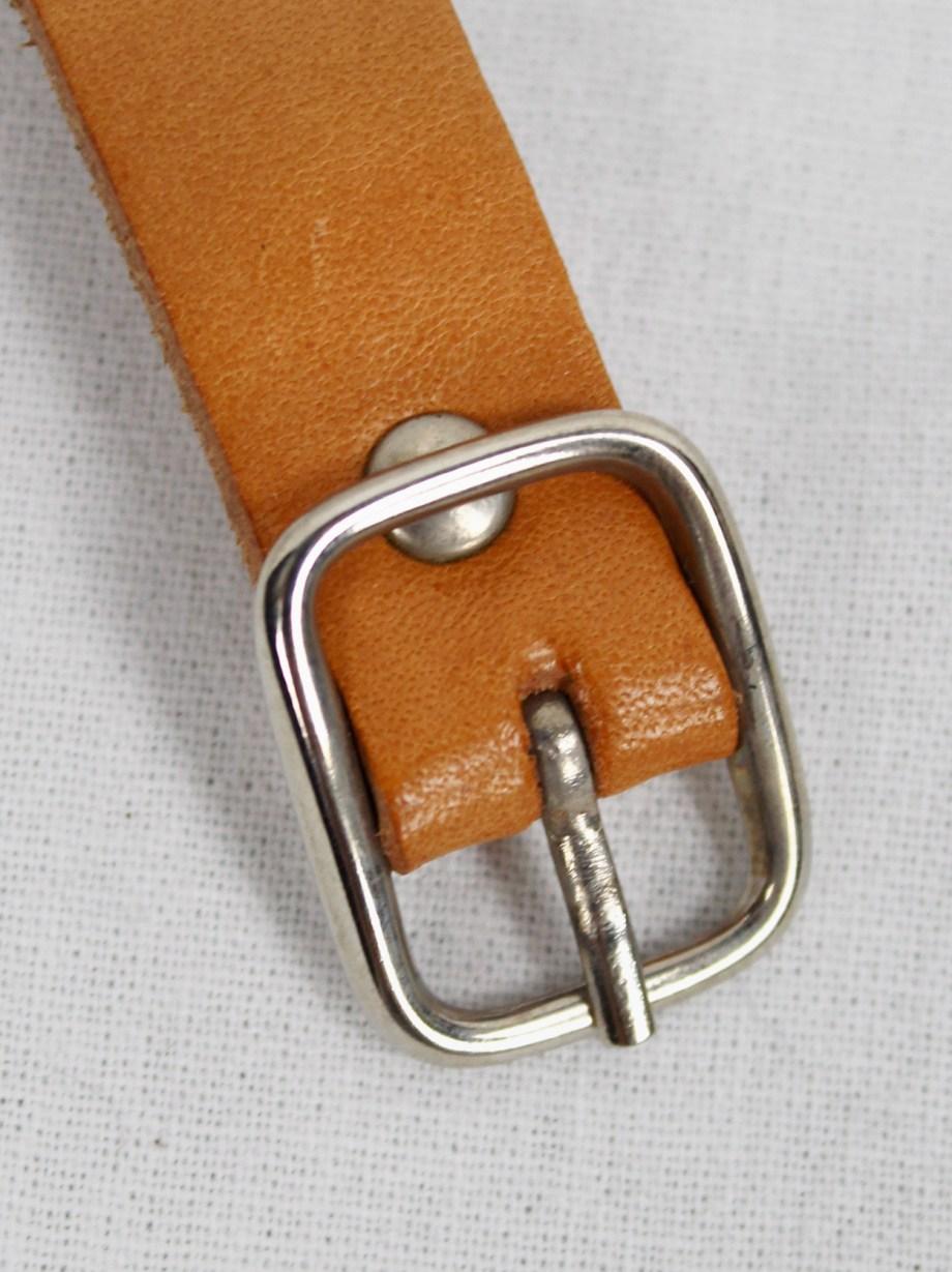 Maison Martin Margiela cognac brown belt as ring — 1999/2002