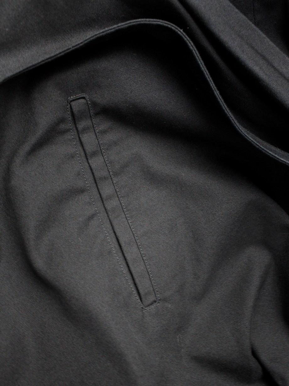 Y's Yohji Yamamoto black voluminous skirt with front ties and paperbag waist