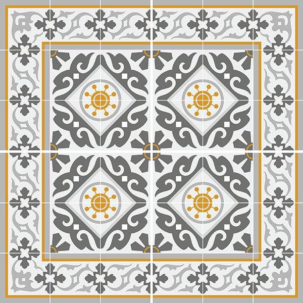 traditional tiles floor tiles floor vinyl tile stickers tile decals bathroom tile decal kitchen tile decal 214