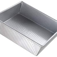 USA Pan Bakeware Square Cake Pan, 9 inch, Nonstick & Quick Release Coating, Made in the USA from Aluminized Steel
